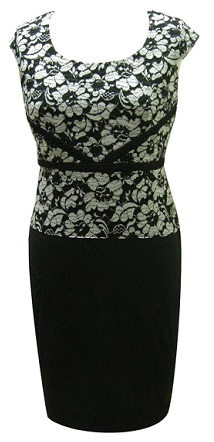Black White Lace Print S10,12,14