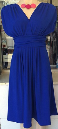 Angela Dress blue S8 Black S8,10,12,14/16