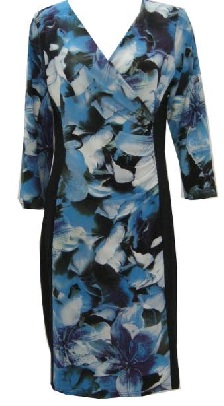 Long Sleeve Blue Floral S10,12/14