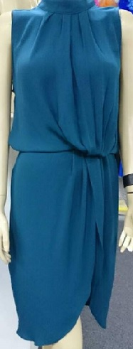 Teal Drape Dress S6,8