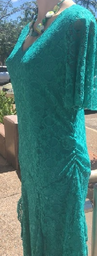 Lace with sleeves Dress Jade S10.12.14.16 Blue S10