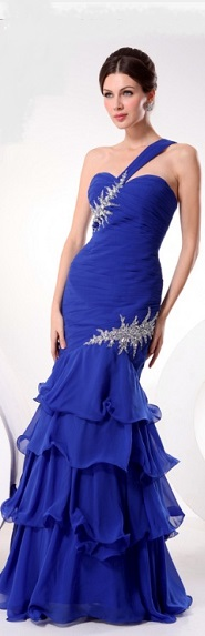 Blue Layered Gown S12