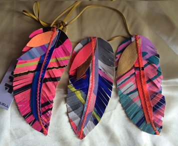 Tiff Feather Necklace