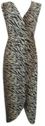 Tiger Print Drape Dress S10,12