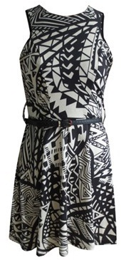 Tribal Print Skater Dress S8,14