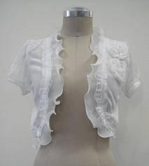 White  / Black Bolero S,M,L,XL