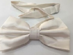 White Mens Bow Tie