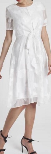 White Chiffon Swing Dress S14
