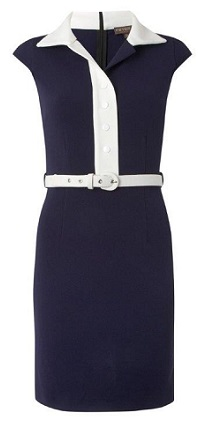 Navy 1960s nautical look Dress S6/8