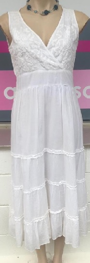 White Cotton sundress S12