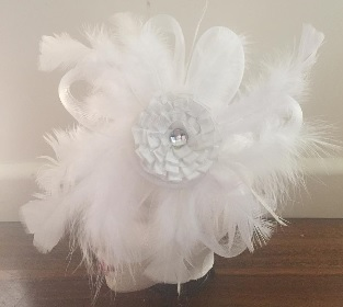 White Feather Flower $70