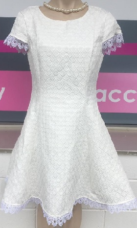 Amy with Lace White Dress S12