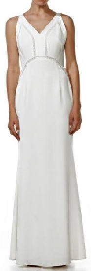 White Sleeveless Maxi S16
