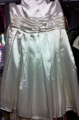 White Strapless Satin Dress S16/18