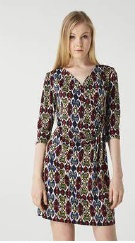 Wrap Look Dress Print S8,10