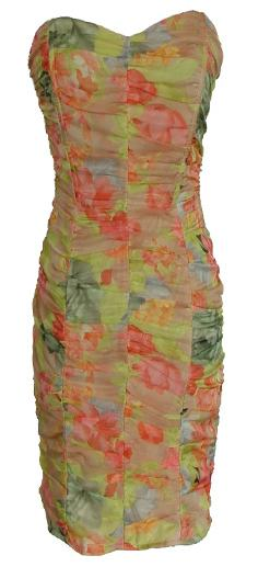 Floral Chiffon Fitted Dress S12,14