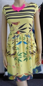 Yellow Bird Dress S10(small sizing)