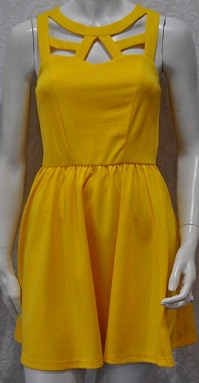 Yellow Cut Out Dress S12