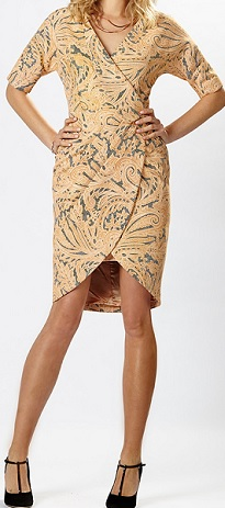 Yellow Print Structured Dress S12