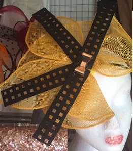 Yellow Black on Headband $69